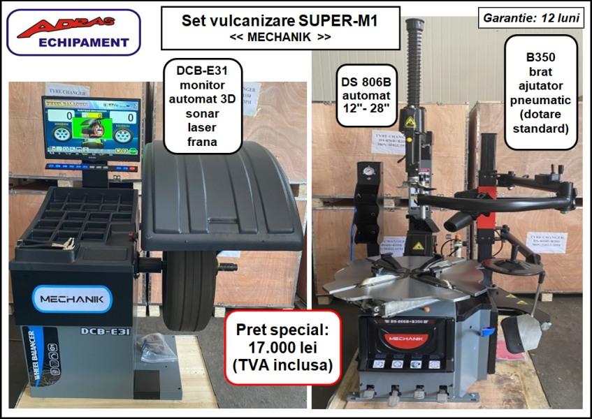 Set aparate dejantat si echilibrat roti Super-M1